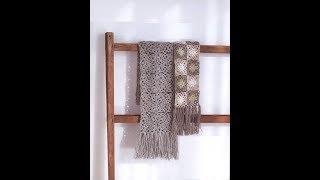 Вязание крючком. Красивый  шарф