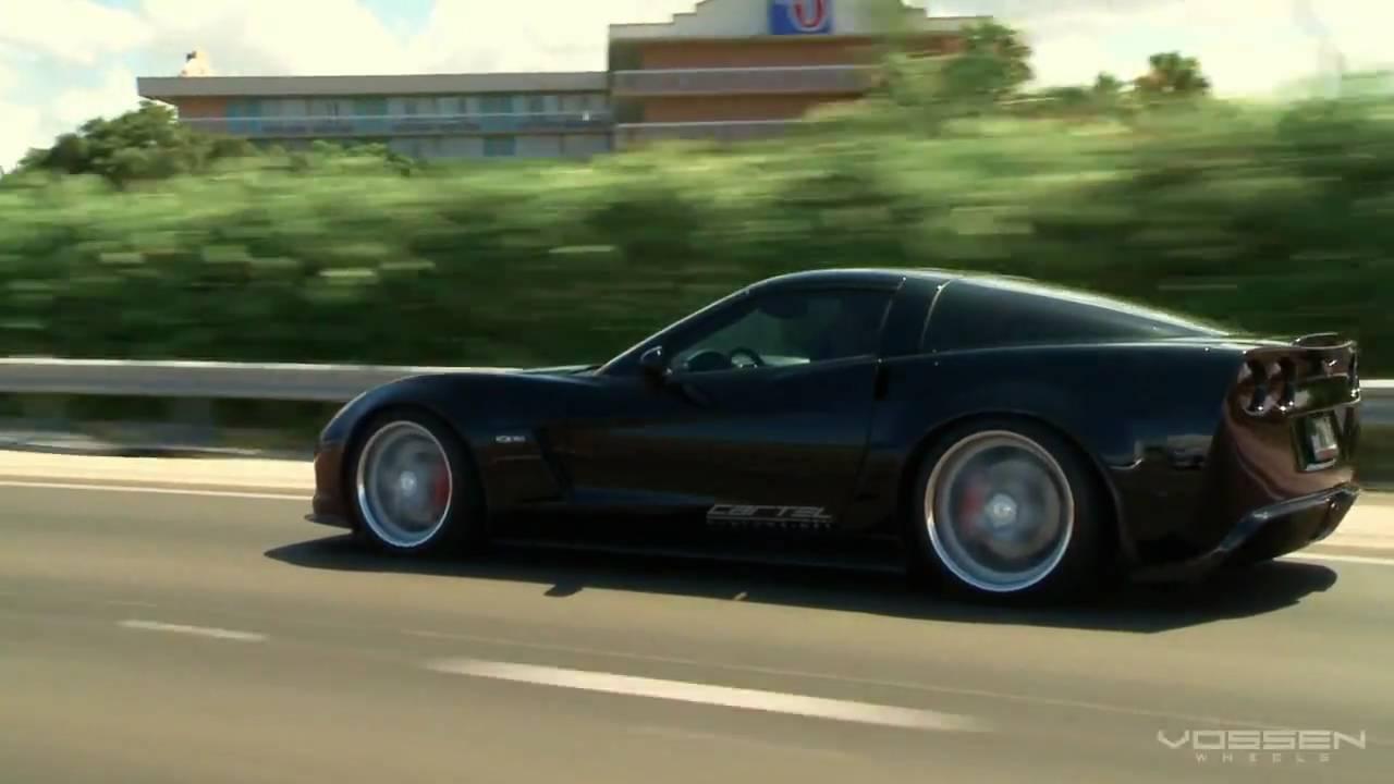 Chevrolet Corvette Z06 S On Vossen Vvs 087 Wheels Rims