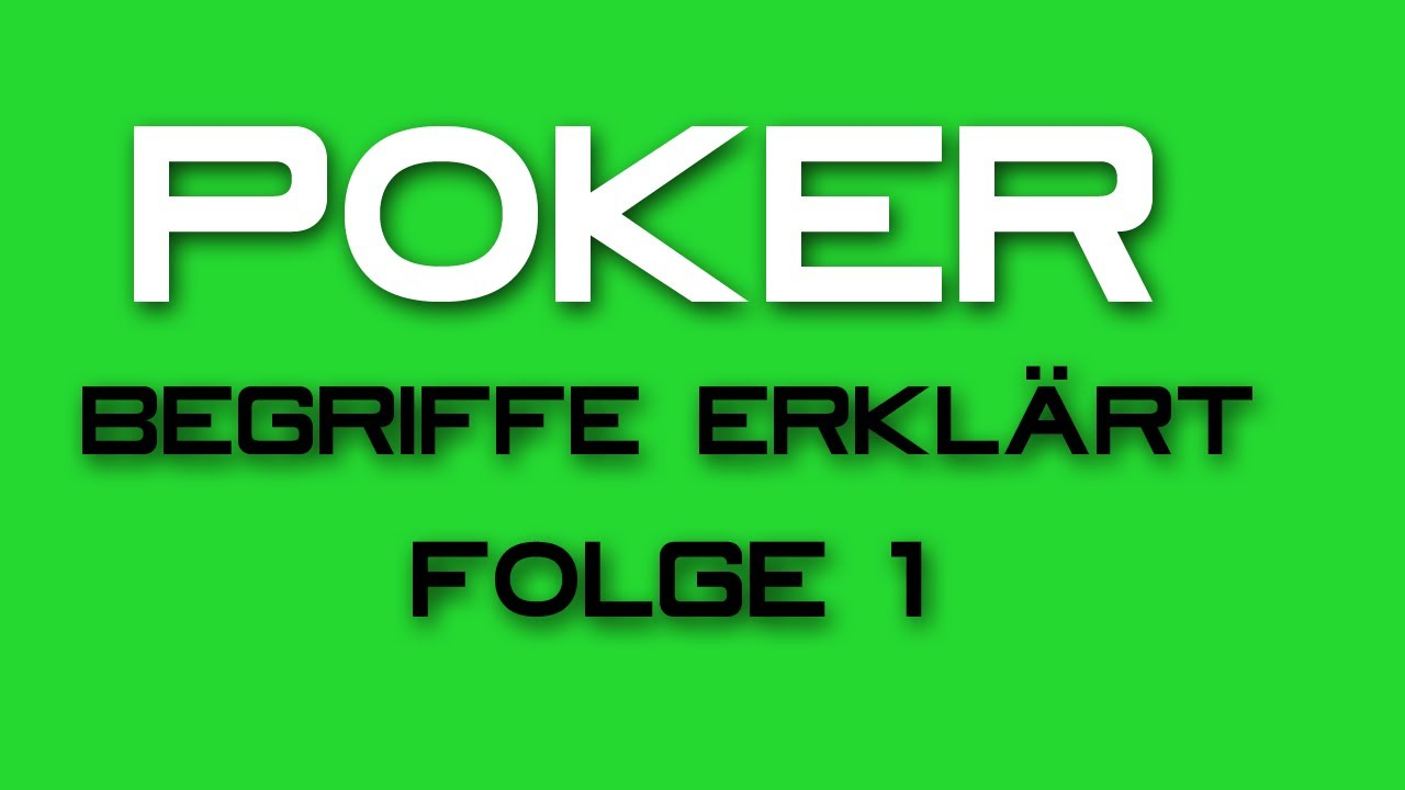 Poker Begriffe