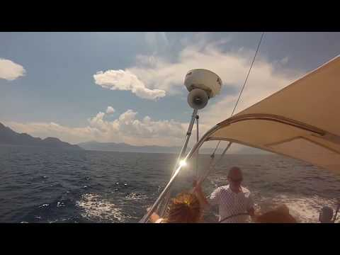 Sailing in Saronic Gulf from Methana to Aegina