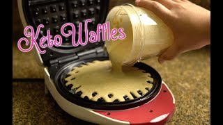 Keto Waffles in less than 10 minutes | No Eggy Flavor! | Low Carb Waffles for Ketogenic WOE
