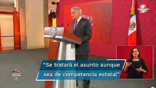El presidente Andrés Manuel López Obrador detalló que la titular de Segob, Olga Sánchez Cordero, se pondrá en contacto con el gobernador de Chiapas, Rutilio Escandón, para tratar el asunto