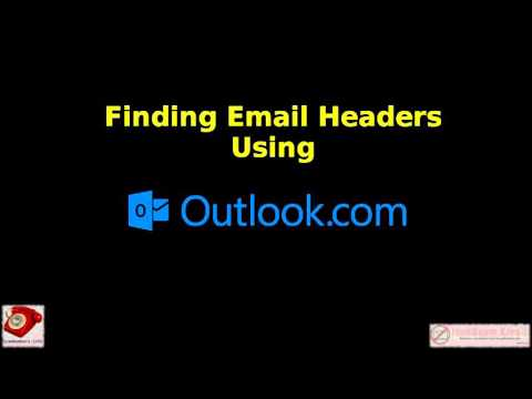 Finding Email Headers in Outlook.com Mail