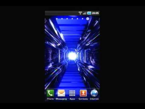 SciFi 3D Tunnel Effect Live Wallpaper - YouTube