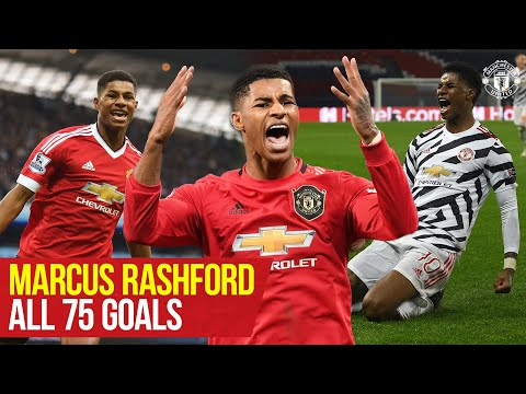 Marcus Rashford reaches 75 goals for Manchester United | Every Goal