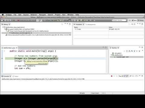Eclipse Demo: Debugging - Georgia Tech - Software Development Process