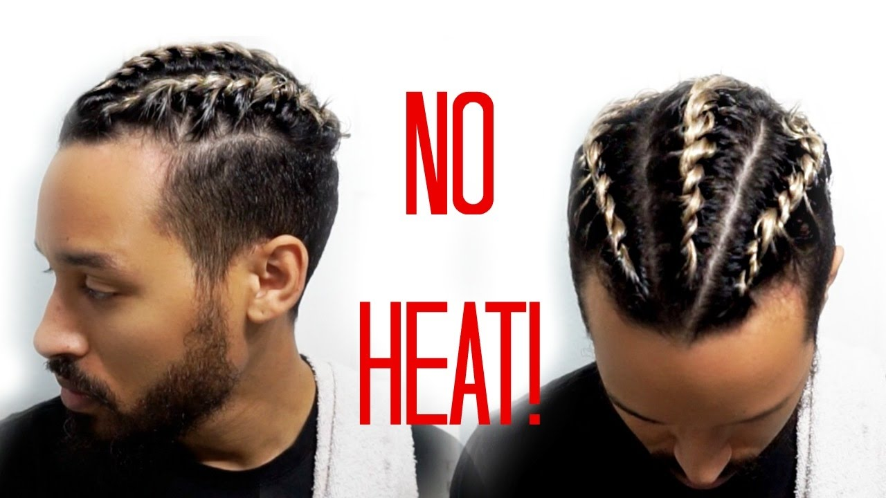 heat free styles for men | 2 strand twists | curly hair