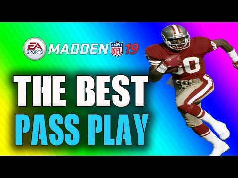 THE GREATEST UNSTOPPABLE PASS PLAY IN MADDEN 19!! BEST PLAYBOOK