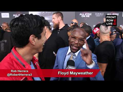 Floyd Mayweather Talks Tupac Legacy at 'All Eyez On Me' Hollywood Premiere