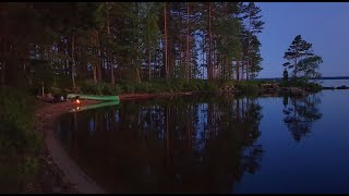3 Days Solo Bush¢raft Canoe Trip - The Beach - Sleeping Under the Stars - Catch and Cook