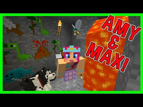 Amy & Max! Ep.7 THE MYSTERIOUS CAVE PAINTINGS! | Minecraft | Amy Lee33