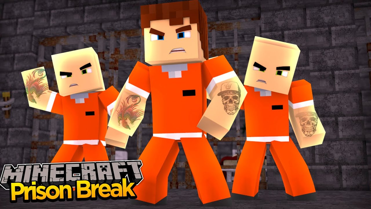 Minecraft PRISON BREAK - SCUBA STEVE JOINS A PRISON GANG!!