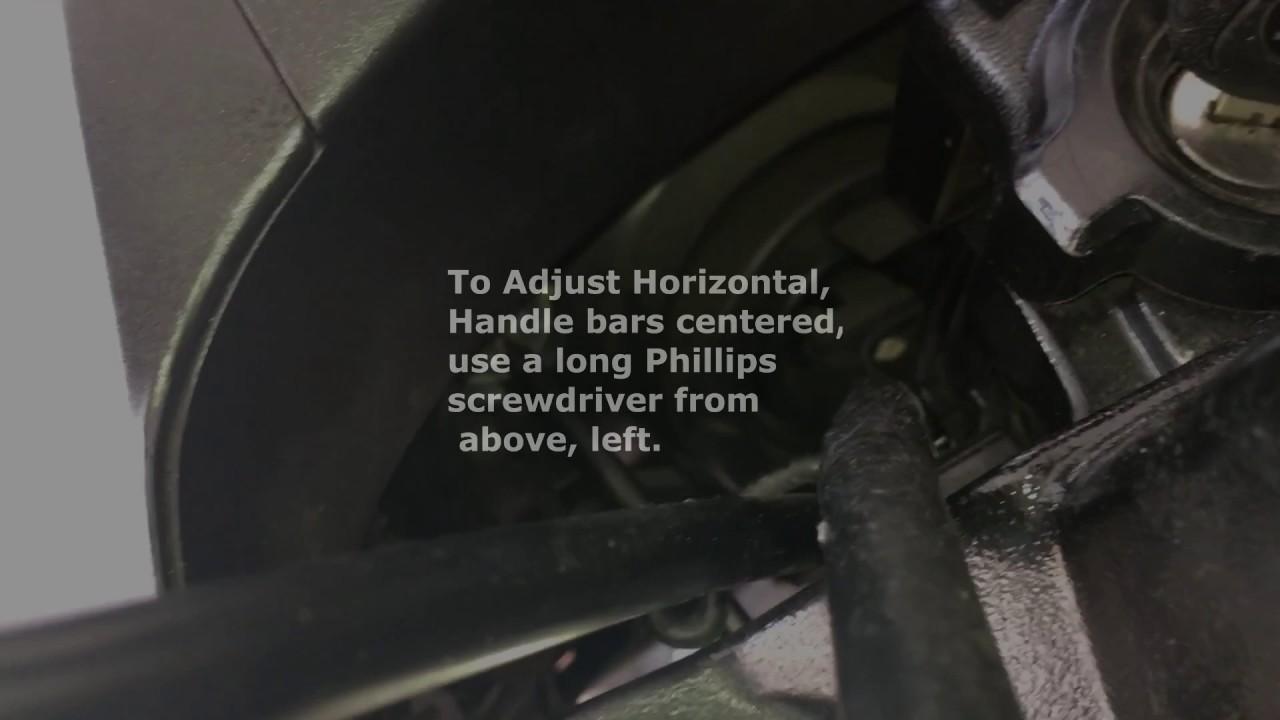 Adjust Headlight NC750 - YouTube on
