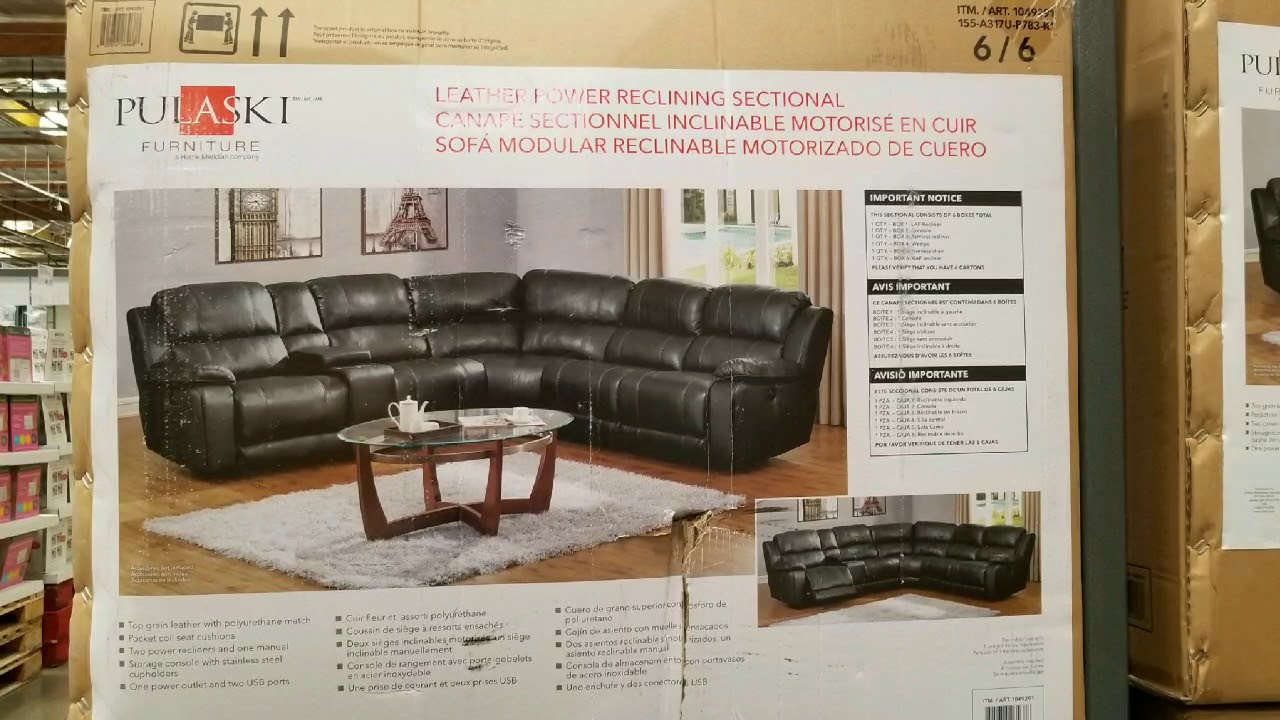 costco leather power reclining sectional traditional 1799