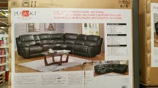 Costco! Leather Power Reclining Sectional (Traditional) $1799!!!