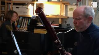 """TSO bassonist Fraser Jackson plays Mendelssohn's """"Song Without Words"""" with wife Monique de Margerie"""