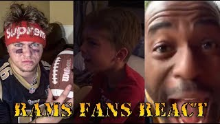 Rams Fans React to the Patriots winning Super Bowl 53 Compilation