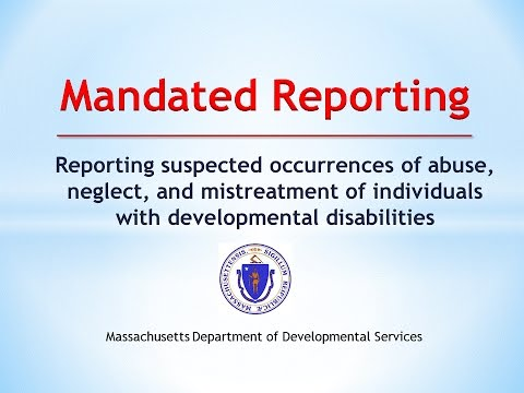DDS Mandated Reporting Training