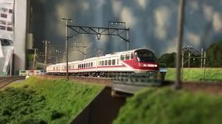 鉄道模型 GM 名鉄1131F(パノラマsuper)+1801F 豊川放水路橋梁!