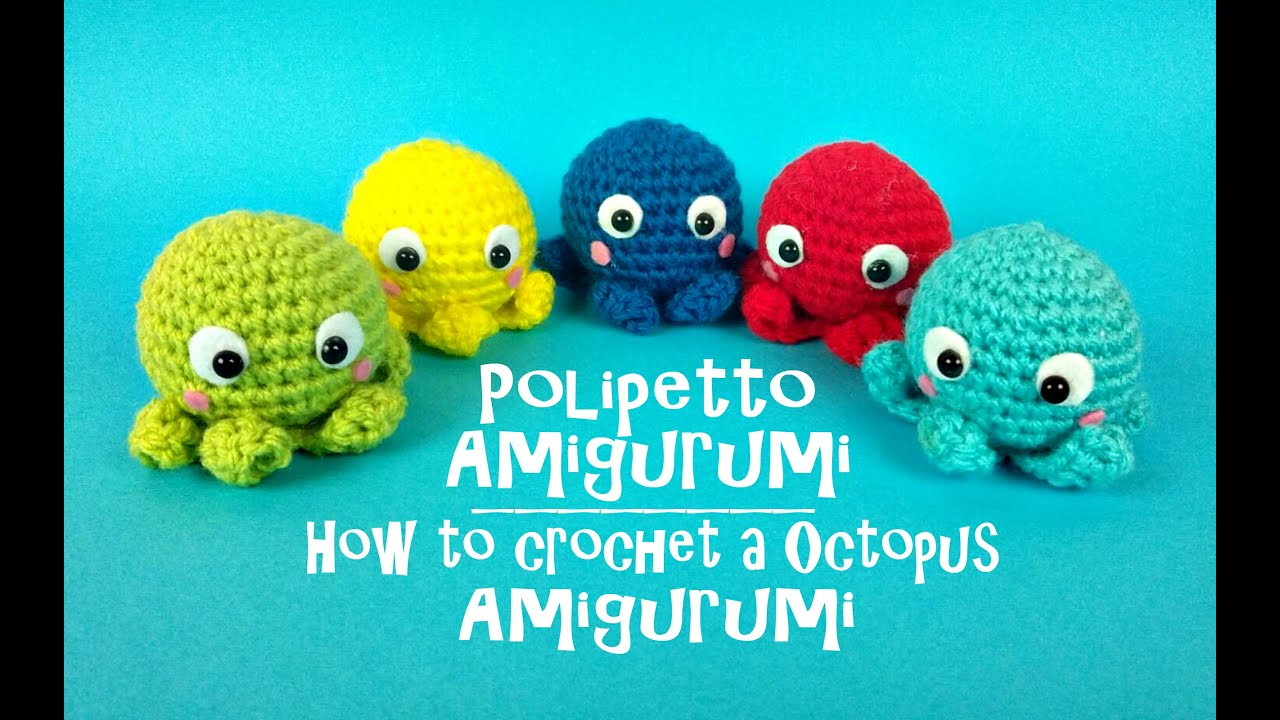 Polipetto Portachiavi Amigurumi How To Cochet A Little Octopus
