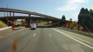 Driving on Interstate 77 across entire state of North Carolina