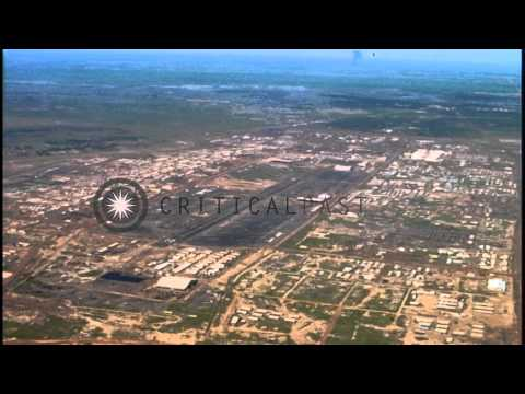 Aerial views of the U.S. 25th Infantry complex at Ch Chi, Vietnam HD Stock Footage