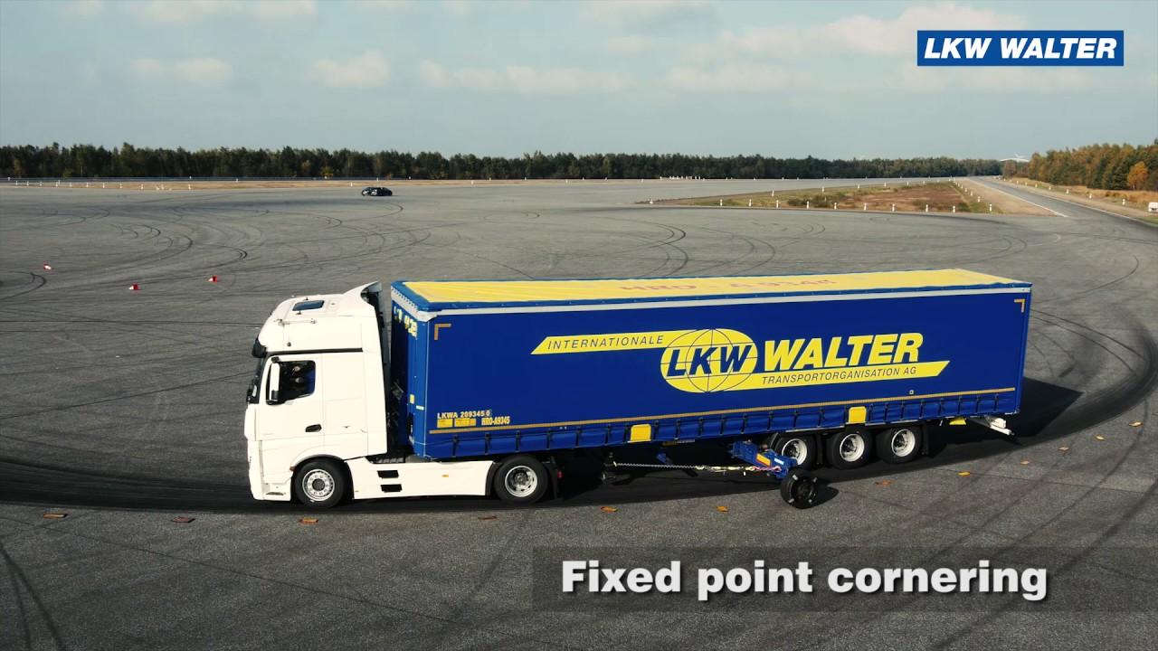 Fahrsicherheitstraining / Schleudertraining - LKW WALTER