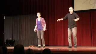 Emily Oleson and Matthew Olwell at American Vernacular Dance Week