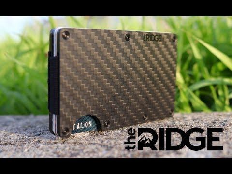 The RIDGE wallet | Carbon Fiber