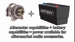 Car Audio 101 - Battery Tutorial for car audio amplifier upgrades