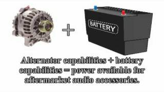 Car Audio 101 - Battery Tutorial for car audio amplifier upgrades