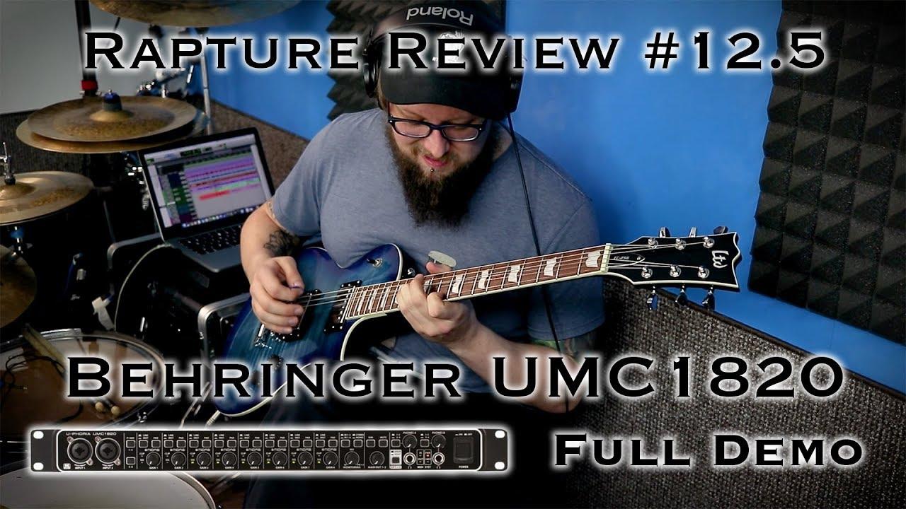 behringer umc1820 review