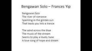 Bengawan Solo (in English)  Frances Yip