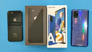 iPhone 8 vs Samsung Galaxy A21s