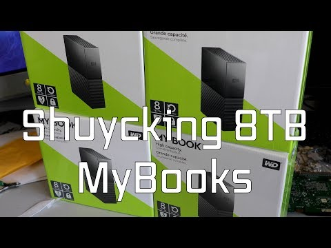 Upgrading My FileServer With 8TB WD Mybook Drives