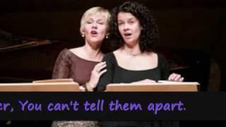 "Barbara Bonney  Angelika Kirchschlager Malcolm Martineau ""Die Schwestern"" Johannes Brahms"