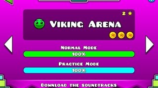 GEOMETRY DASH MELTDOWN - Level #2 - Viking Arena - (All Secret Coins) -