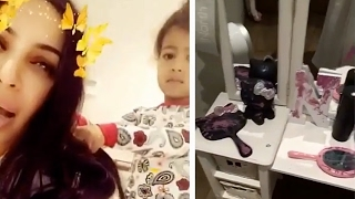 North West DESTROYS Her Room While Kim Kardashian Steps Away In Adorably Hilarious Snaps