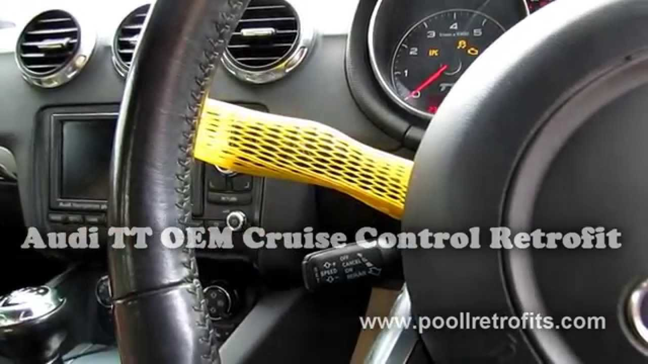 audi tt 2006 oem cruise control retrofit mobile installation rh youtube com Audi A6 Audi Q7