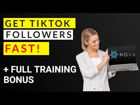 Nova Review - How to get TikTok Followers Fast 📺⏩ thumbnail