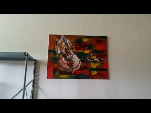 Abstract Painting Timelapse - String Instrument
