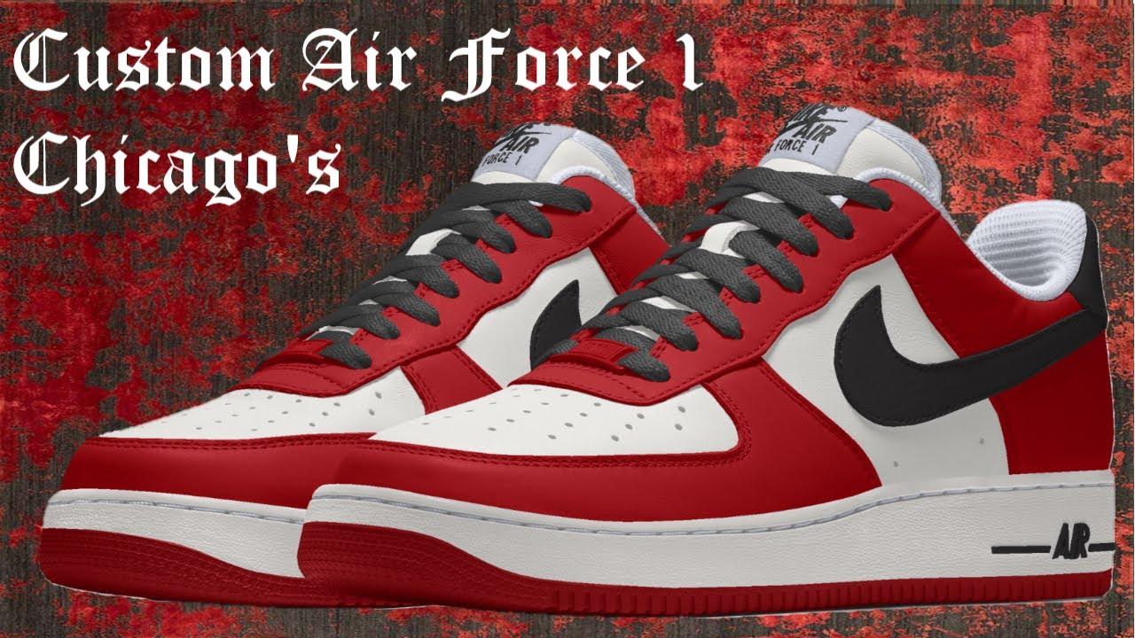 9916ba75627 Custom Air Force 1 Chicago's