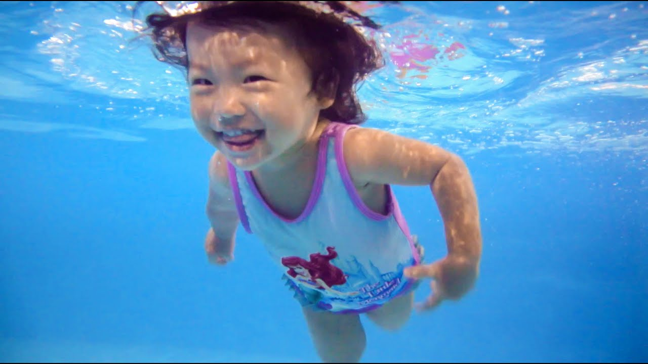 37b2493c7e 2 Years Old Baby Swimming Like A Dolphin - Happy Fish Laura - YouTube