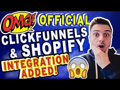 BREAKING NEWS! CLICKFUNNELS SHOPIFY INTEGRATION IS LIVE! TRAINING ON HOW TO USE IT! [ECOMMERCE]