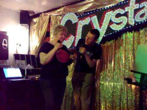 Black Lion Karaoke Night, 9th April 2009 - Christian and Viv