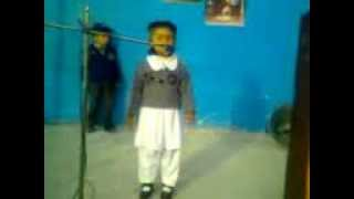 Nabia eman 3 year old,Speech on defence day. Studying in play group.
