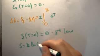 Thermodynamics 30 : Third Law Of Thermodynamics