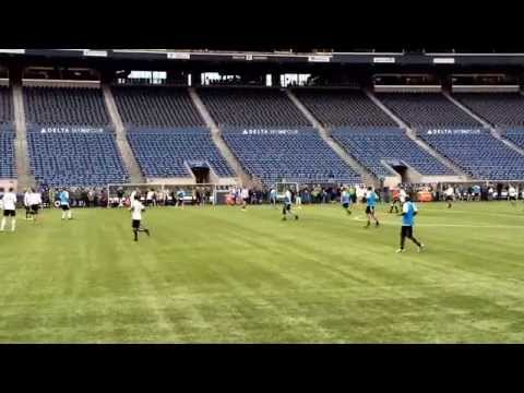 Seattle Sounders Alumni Match - Schmetzer and Hinton take the pitch up to the final whistle.