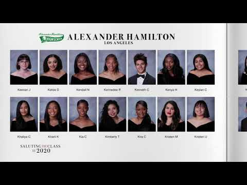 Saluting the Class of 2020 -- Alexander Hamilton High School