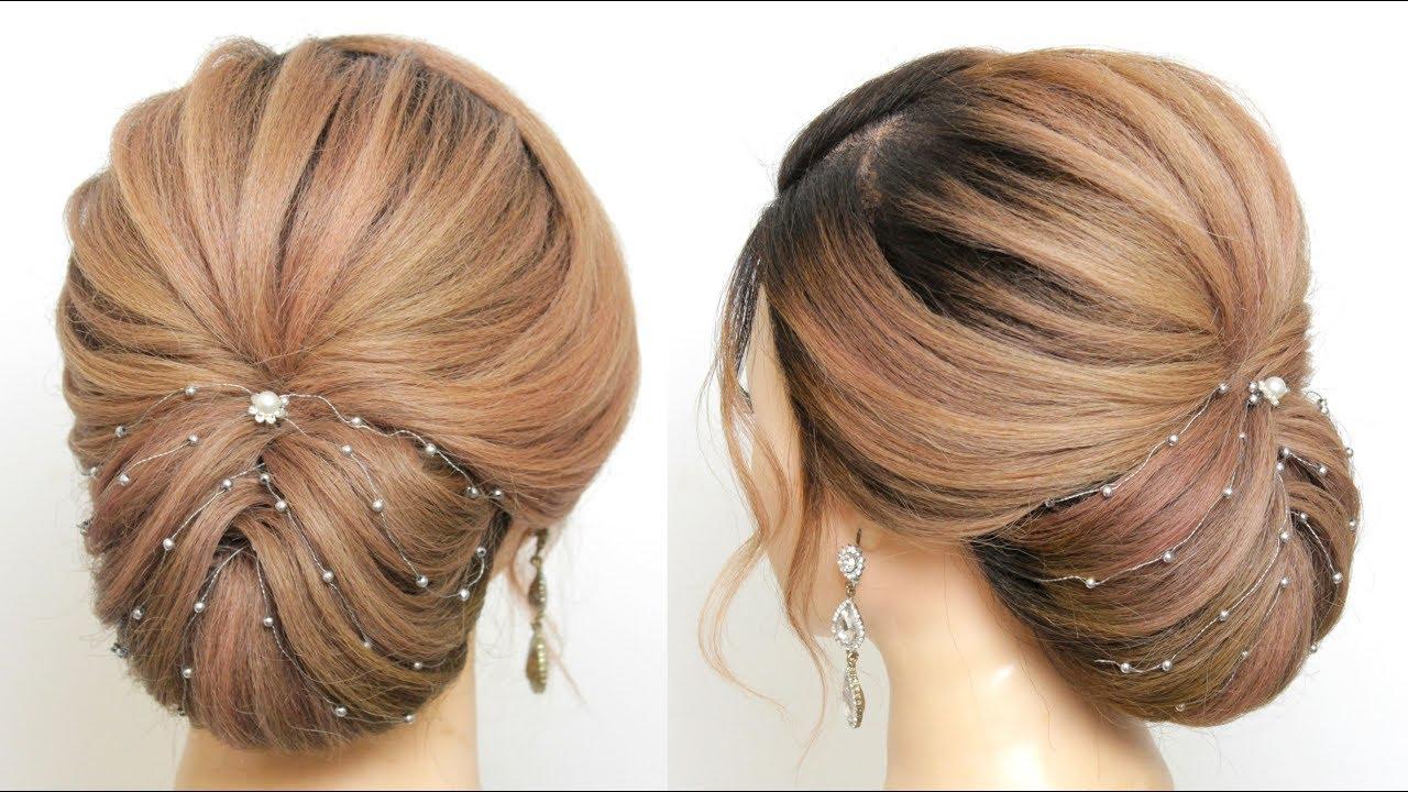 Bridal Updo Tutorial. Wedding Hairstyles For Long And Medium Hair